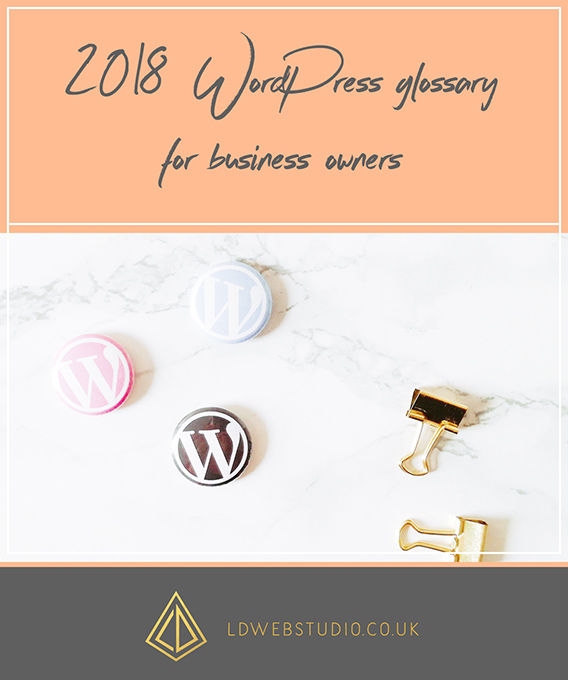 2018 WordPress glossary for business owners